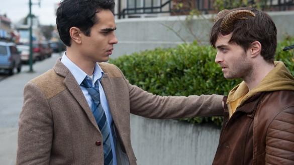 Lee (Max Minghella) trying to comfort Ig (Daniel Radcliffe).