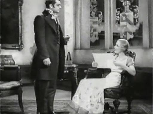 Franz Schubert (Hans Jaray) talking to Duchess Eszterhazy (Mártha Eggerth).