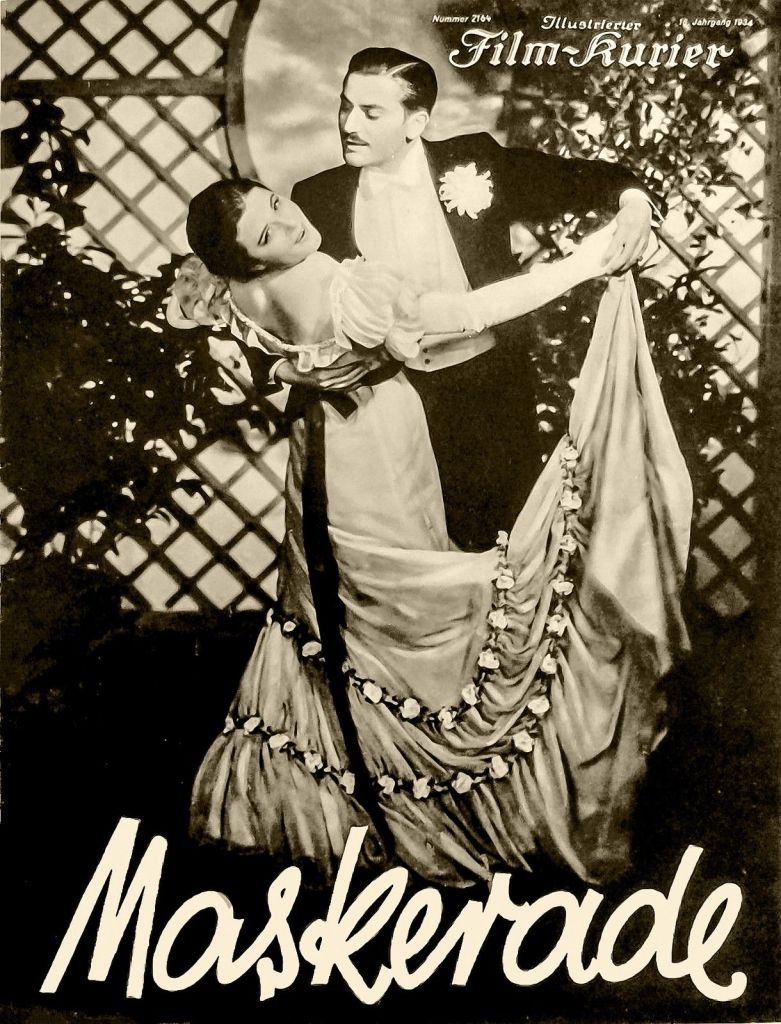 The film poster showing Heideneck (Anton Walbrook) dipping Leopoldine (Paula Wessely) was they dance.