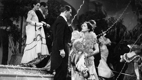 Heideneck (Anton Walbrook) talking to Anita (Olga Tschechowa) at the ball.