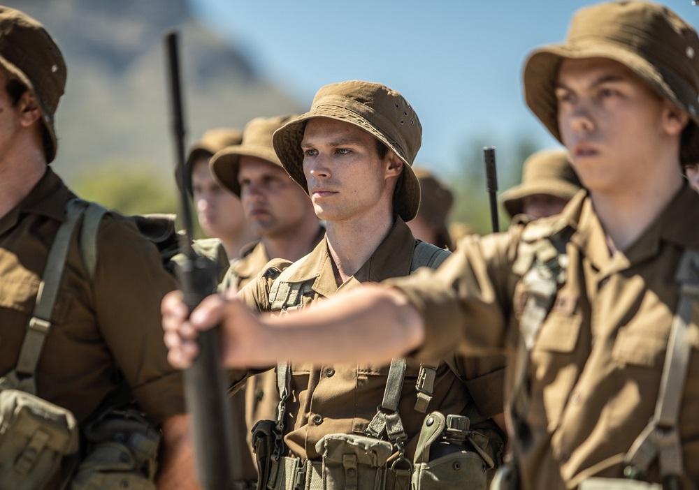 Nicholas (Kai Luke Brummer) during a drill exercise.