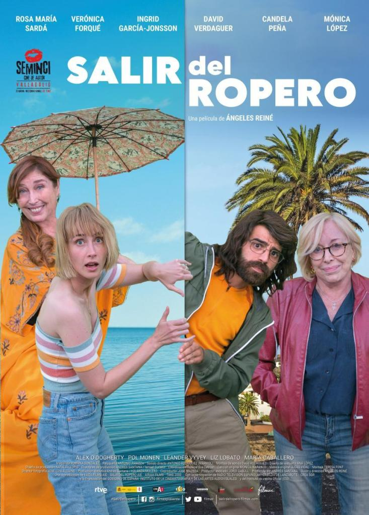 The film poster showing Sofia (Verónica Forqué) and her granddaughter Eva (Ingrid García Jonsson) on one side, and Celia (Rosa Maria Sardà) and her son Jorge (David Verdaguer) on the other. Eva and Jorge seem to be pushing them apart.