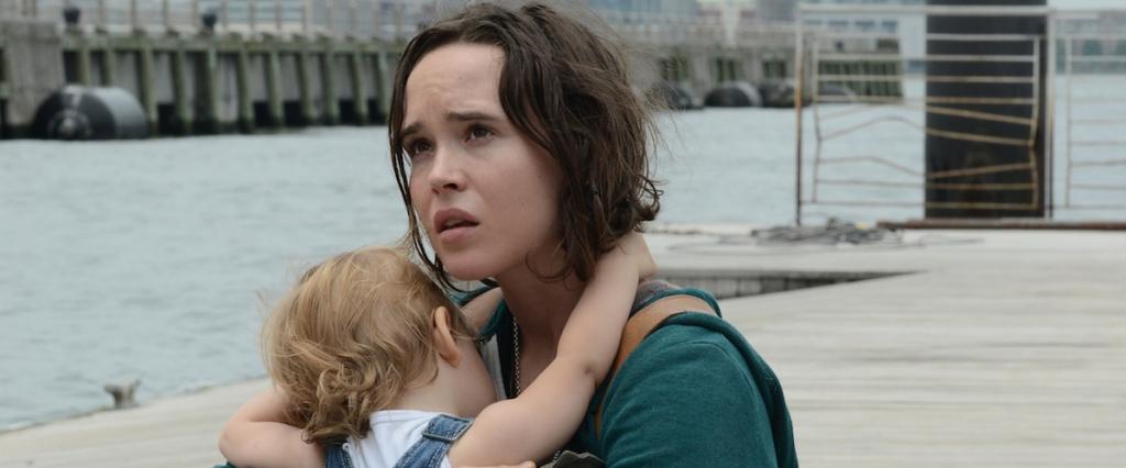 Tallulah (Elliot Page) cradling a toddler