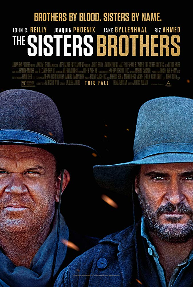 The film poster showing Eli (John C. Reilly) and Charlie Sisters (Joaquin Phoenix) in close-up.