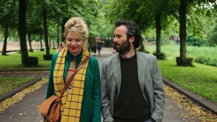 Doris (Tjitske Reidinga) on a walk with Tim (Guy Clemens).