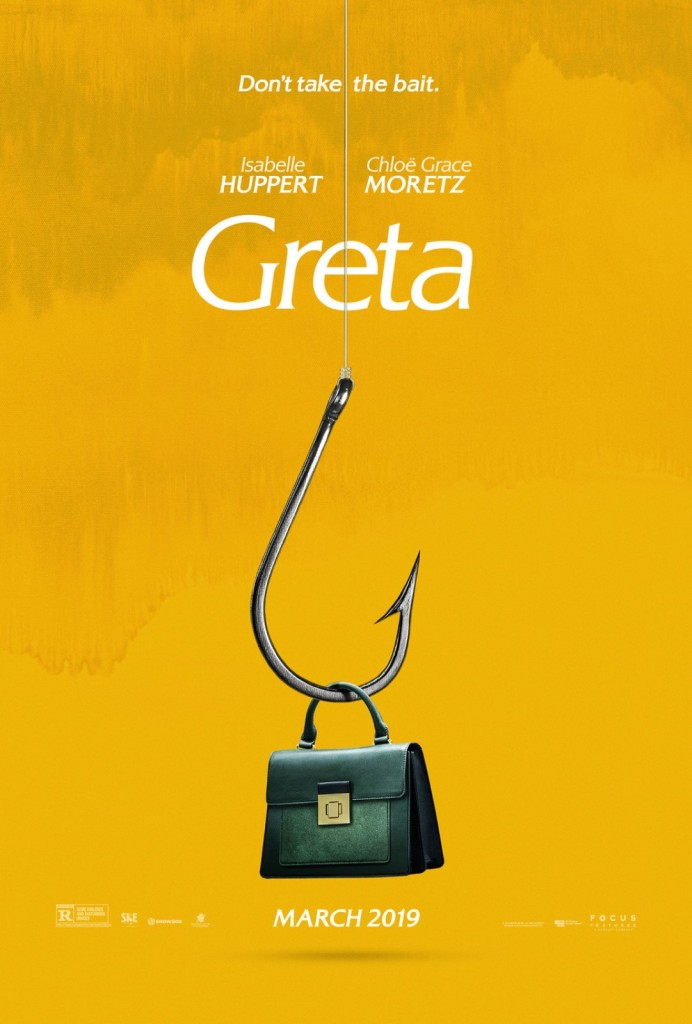 the film poster showing a purse dangling on a fish hook.