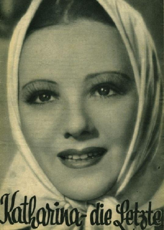 The film poster showing Katharina (Franciska Gaal) wearing a headscarf.