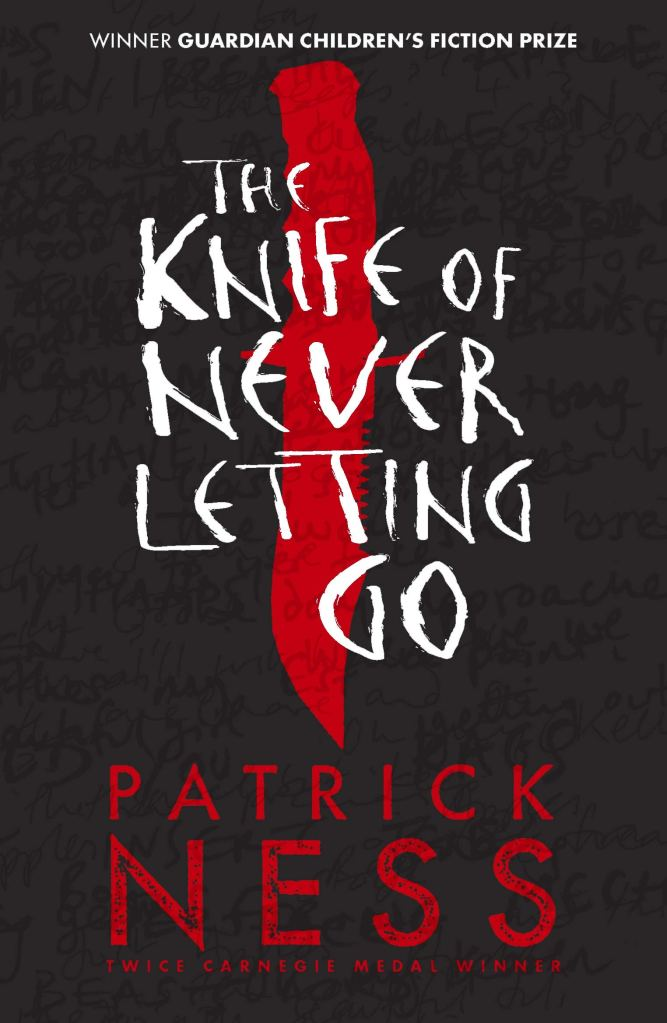 The book cover showing a red knife on black background.