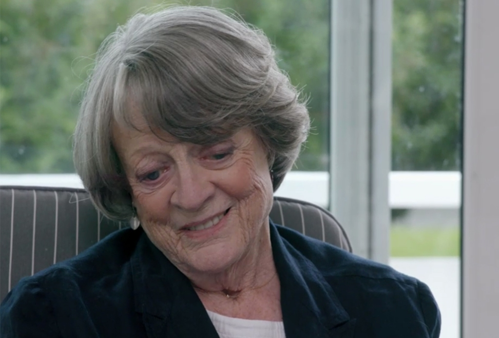 Maggie Smith smiling.