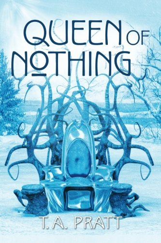 The book cover showing an empty, spiky throne in an icy landscape.