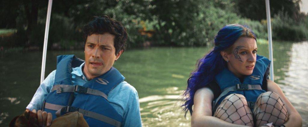 James (Christian Coulson) and Sarah (Naomi McDougall Jones) on a boat.