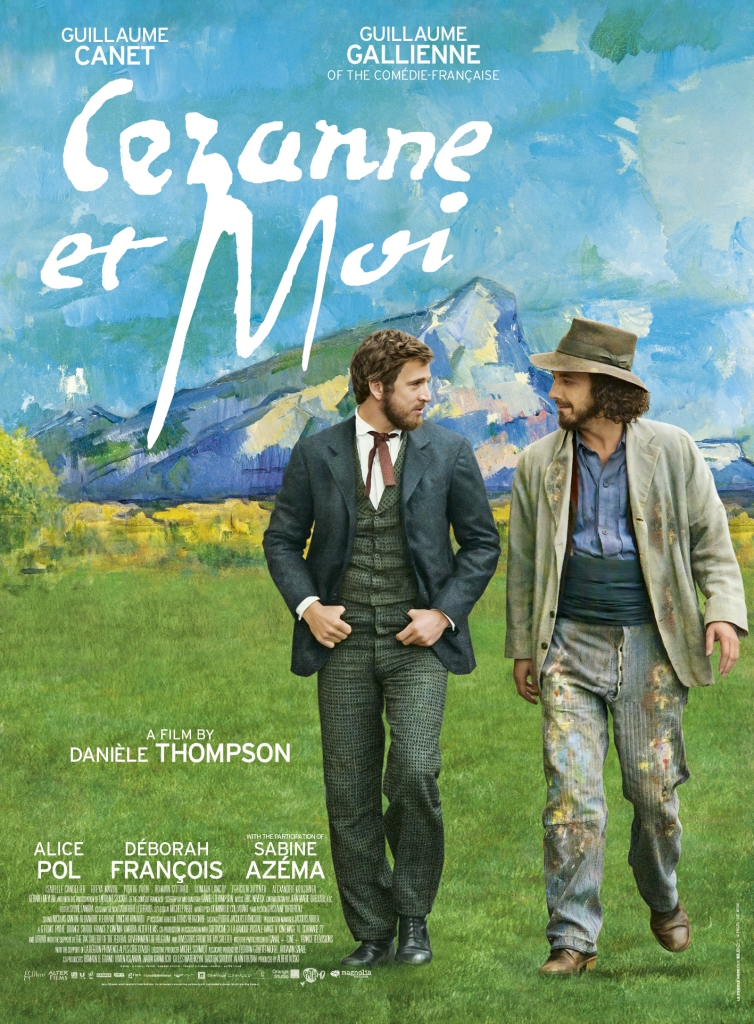The film poster showing Émile Zola (Guillaume Canet) and Paul Cézanne (Guillaume Gallienne) walking through a landscape that looks like it was painted by Cézanne.