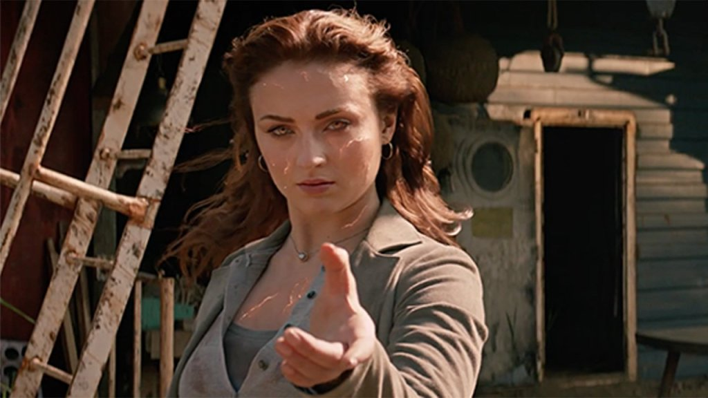 Jean (Sophie Turner) using her powers.