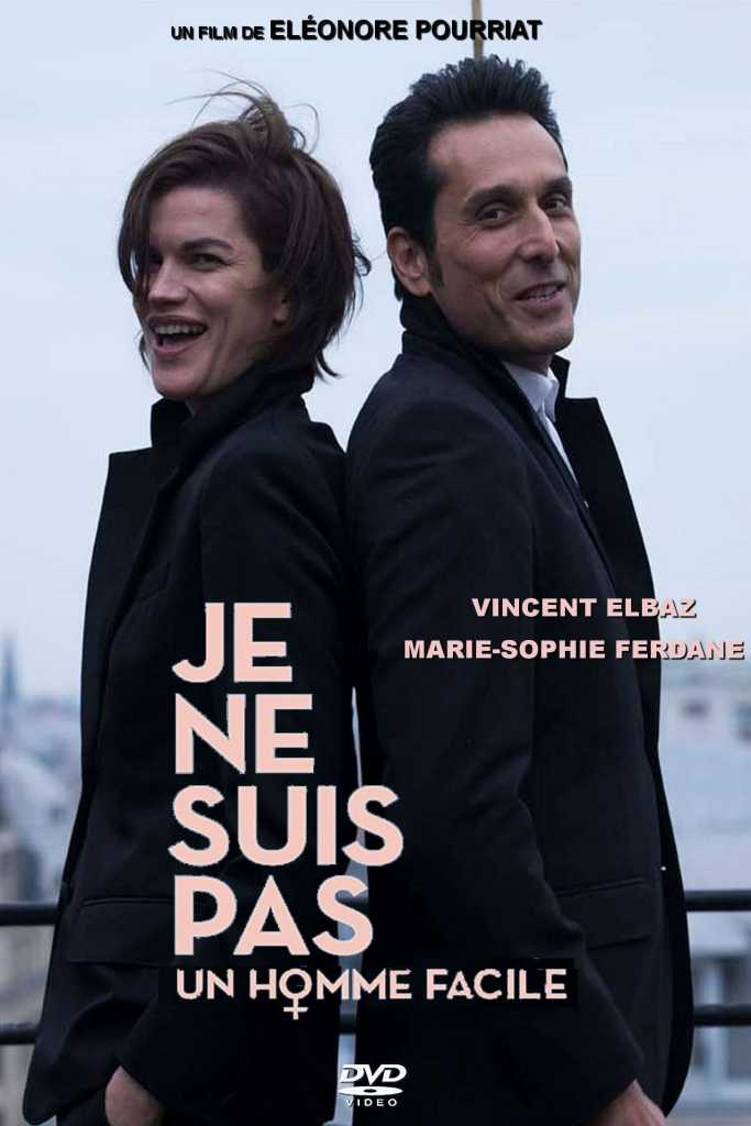 The film poster showing Alexandra (Marie-Sophie Ferdane) and Damien (Vincent Elbaz) standing back to back.