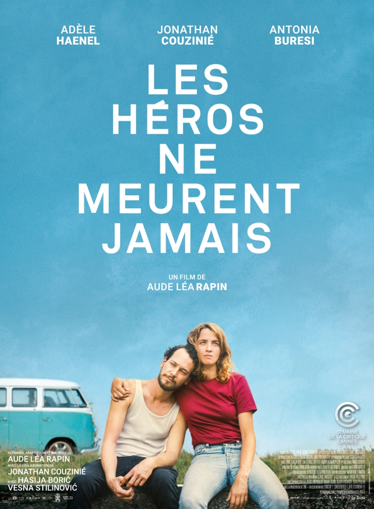 The film poster showing Alice (Adèle Haenel) with her arm around Joachim (Jonathan Couzinié), a van can be seen behind them.