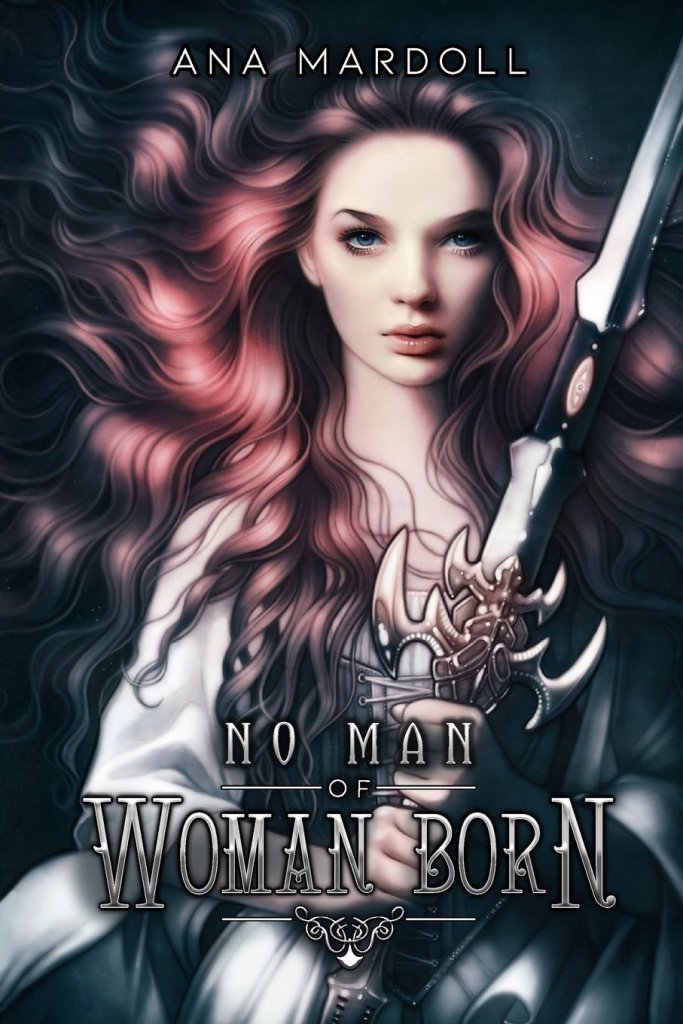 The book cover showing a woman clutching a giant sword.