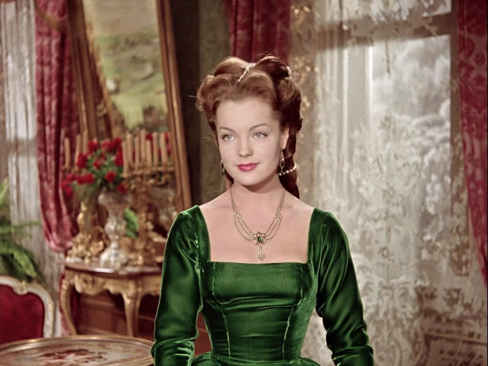 Sissi (Romy Schneider) in the palace.