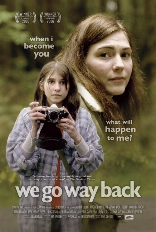 The film poster showing Kate-at-23 (Amber Hubert) and Kate-at-13 (Maggie Brown).