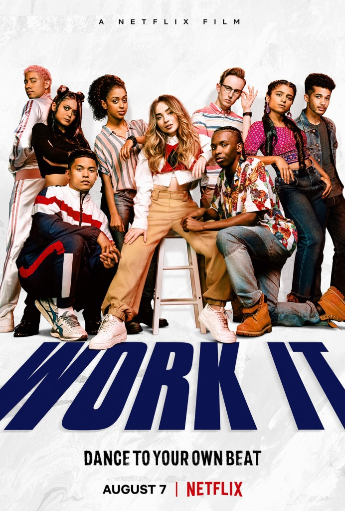 The film poster showing all the main characters in fierce poses as a dance crew.