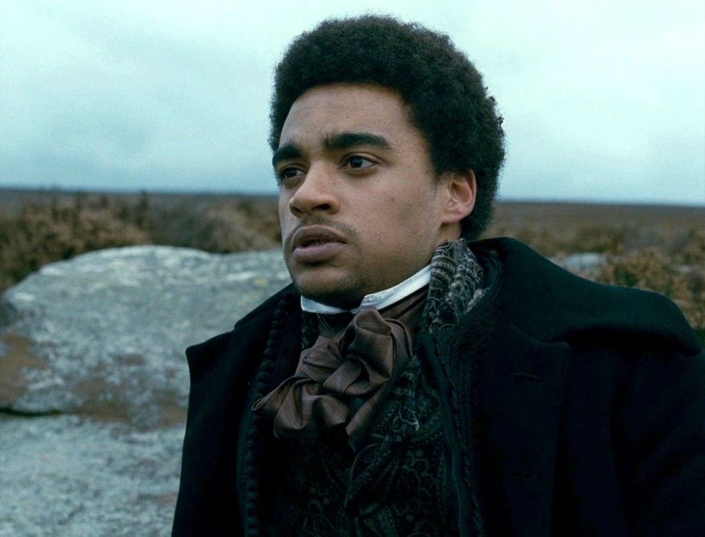 Heathcliff (James Howson) in the moors.