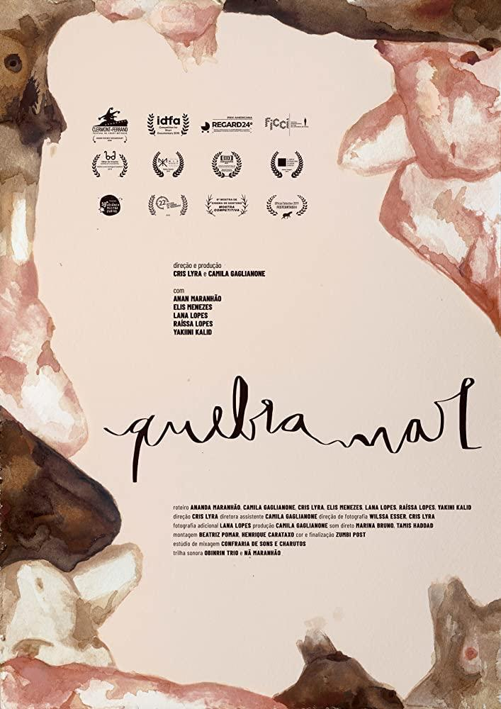The film poster showing a painting of bodies in different shades of skin color. it's watercolors and so abstracted, it's almost unrecognizable. The bodies are just along the edge of the image, in the center is a blank space.