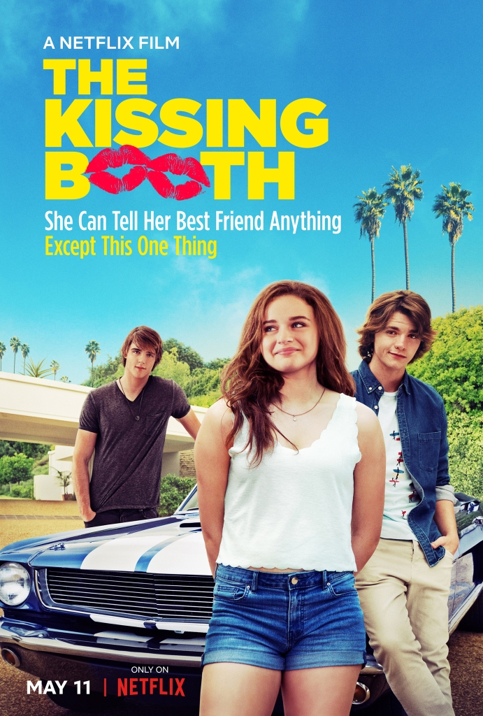 The film poster showing Elle (Joey King), Lee (Joel Courtney) and Noah (Jacob Elordi) leaning around a car.