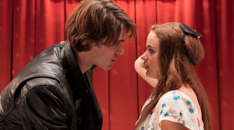 Elle (Joey King) in the kissing booth, realizing that Noah (Jacob Elordi) just kissed her.