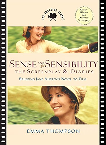 The book cover showing two stills from the film, Kate Winslet as Marianne Dashwood and Emma Thompson herself as Elinor Dashwood.