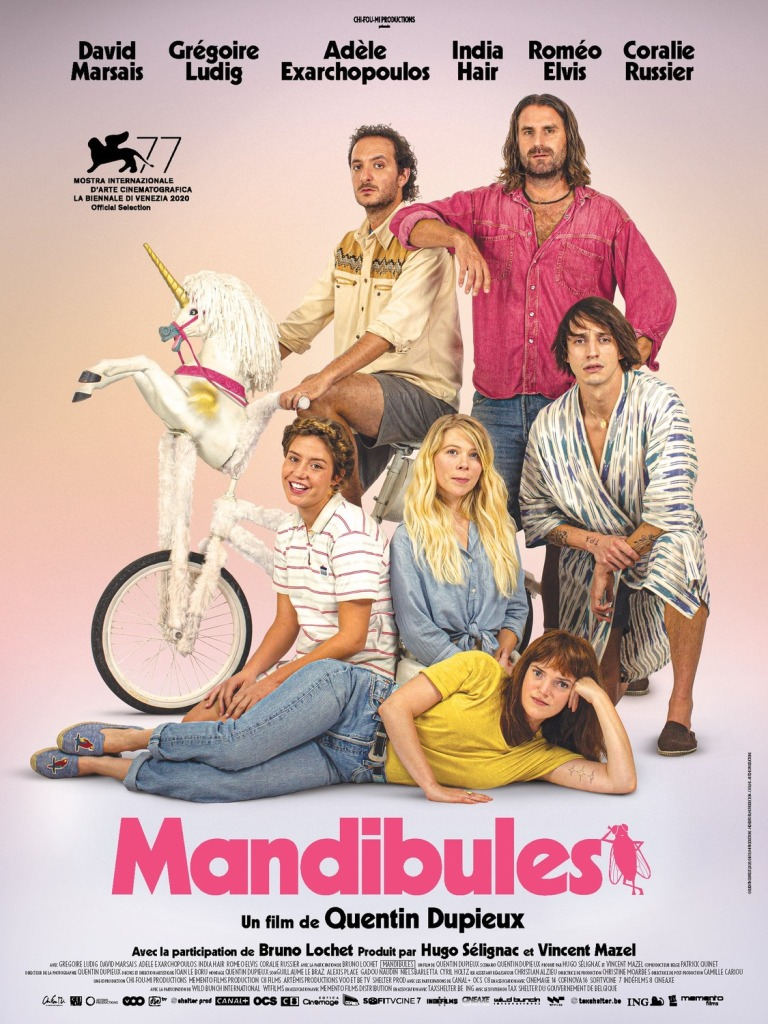 The film poster showing the main characters of the film in a group shot.