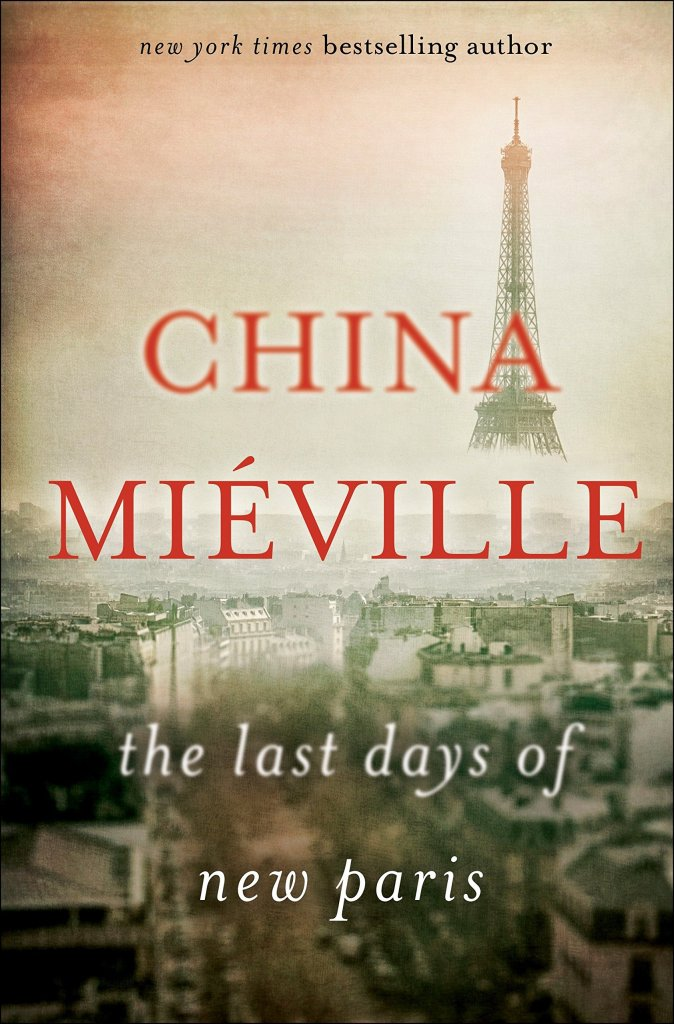 The book cover showing a sepia shot of Paris with the Eiffel tower in the background, its bottom covered in fog.