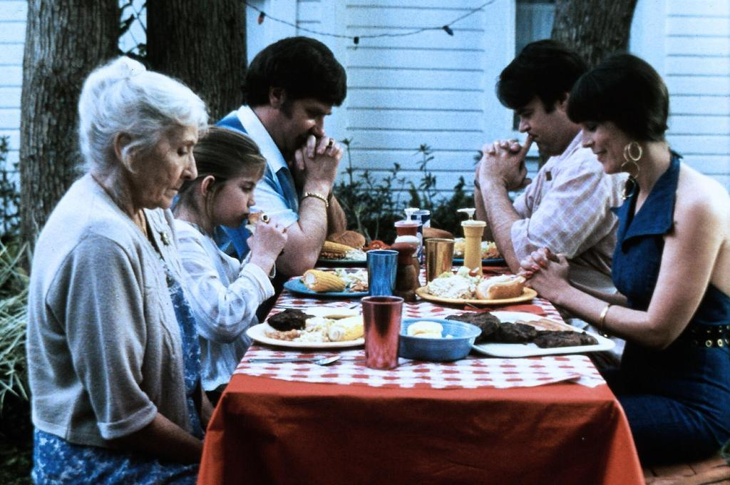 Vada (Anna Chlumsky) and her family having a July 4 barbecue.