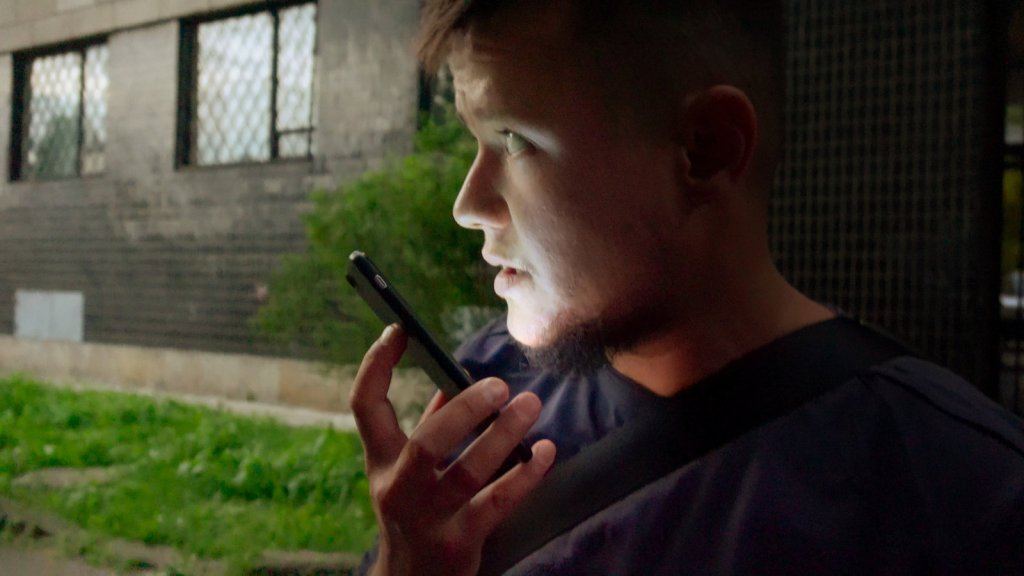 David Isteev on the phone.