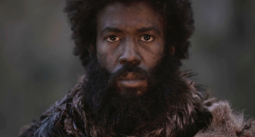 N (Jahwar Soudani) in a disheveled state, looking straight at the camera.