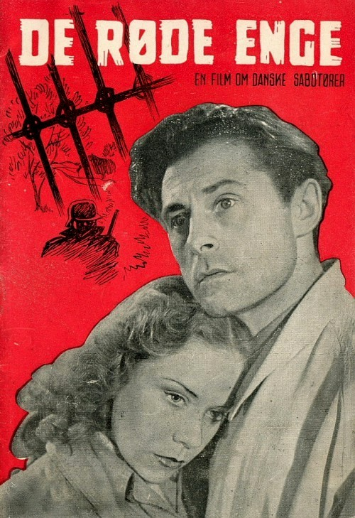 The film poster showing Michael (Poul Reichhardt) holding Ruth (Lisbeth Movin).