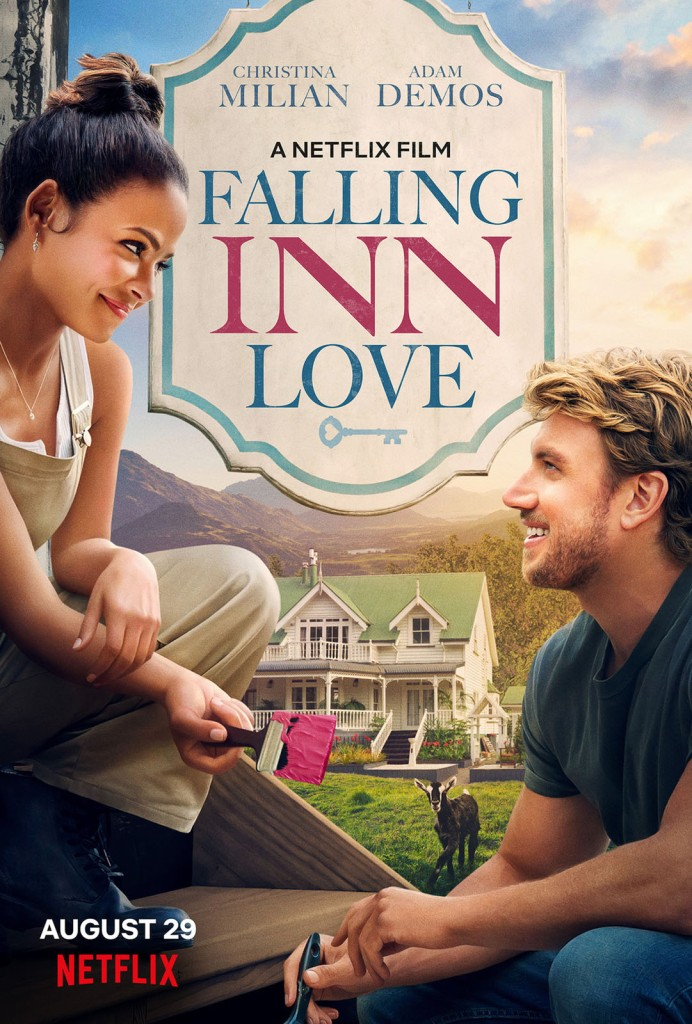 The film poster showing Gabriela (Christina Milian) and Jake (Adam Demos) both with paint brushes in their hands, smiling at each other.
