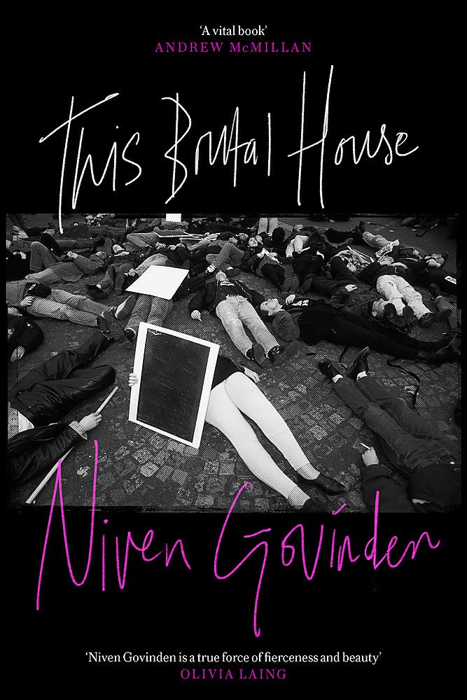 The book cover showing a black and white photo of a group of people lying on the pavement in (a) protest.