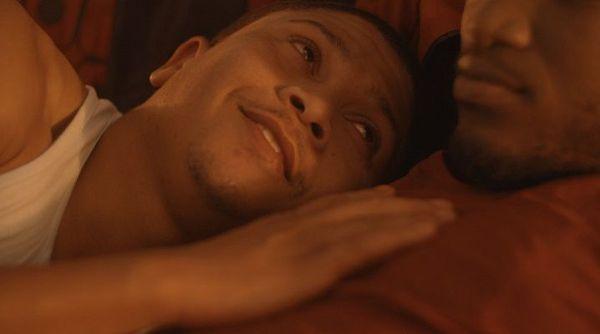 George (Adriano Visagie) cuddled up to Simeon (Simon Hanga).