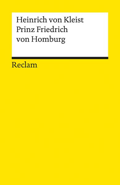 The book cover, monochrome in bright yellow, as is usual for the publisher Reclam.