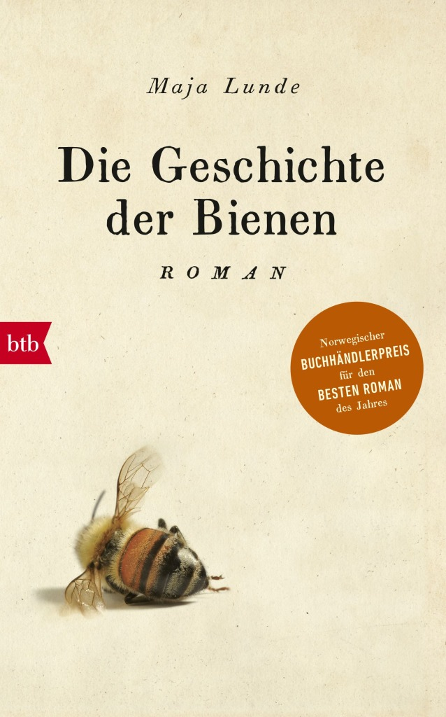 The book cover showing a bee lying on its side as if dead.