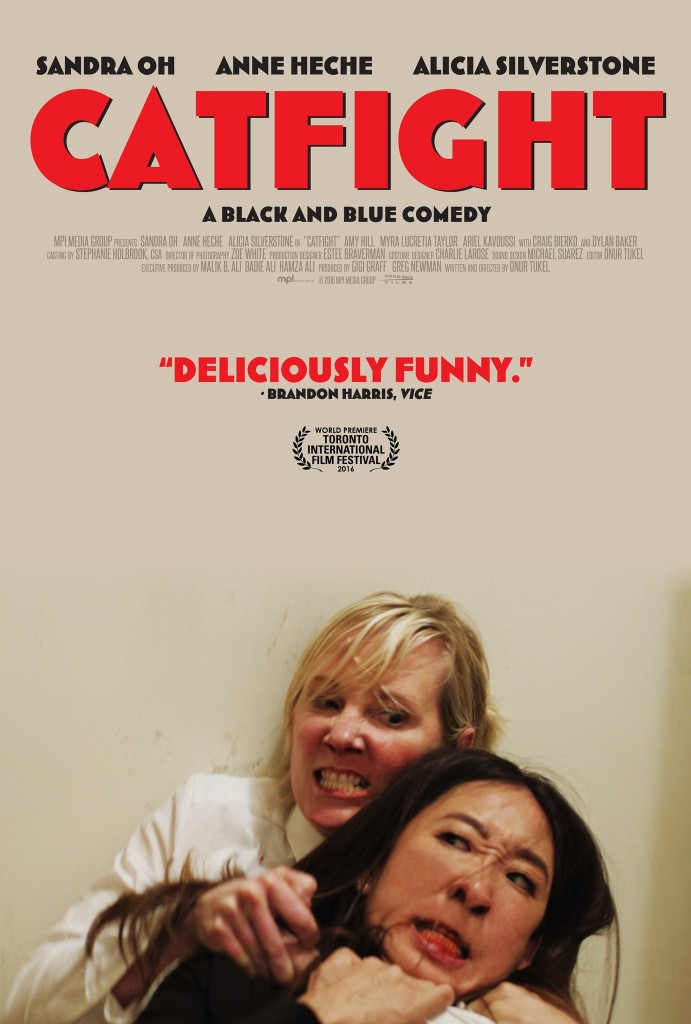 The film poster showing Ashley (Anne Heche) holding Vanessa (Sandra Oh) in a chokehold.