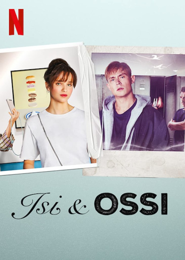 The film poster showing polaroids of Isi (Lisa Vicari) and Ossi (Dennis Mojen)  that are stuck together with a piece of tape.