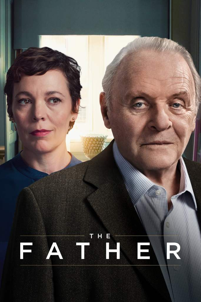 The film poster showing Anne (Olivia Colman) and Anthony (Anthony Hopkins).